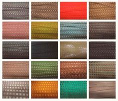 Muestrario de telas para tapizar sofás
